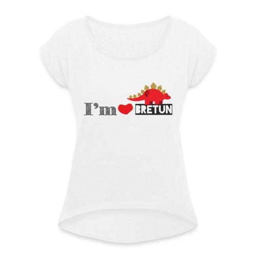 bretun negro - Camiseta con manga enrollada mujer