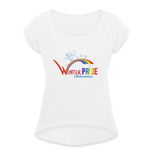 Winterpride - T-skjorte med rulleermer for kvinner
