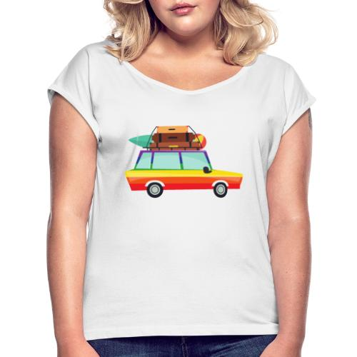Gay Van | LGBT | Pride - Frauen T-Shirt mit gerollten Ärmeln