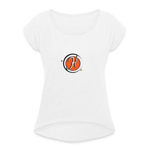 que le logo h orange - T-shirt à manches retroussées Femme