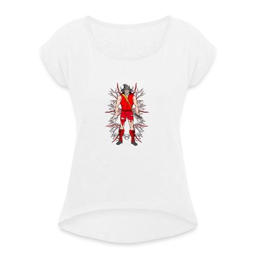Mr Standalone - T-shirt à manches retroussées Femme