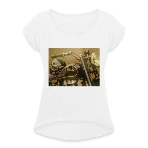Vintage velocette - T-shirt à manches retroussées Femme