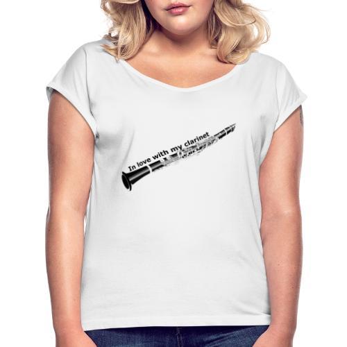 Klarinette I - Frauen T-Shirt mit gerollten Ärmeln
