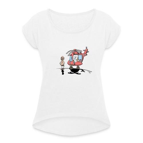 YNWA Sauna helikopter - T-skjorte med rulleermer for kvinner