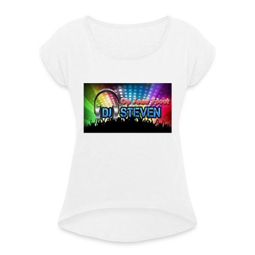DJSteven - Vrouwen T-shirt met opgerolde mouwen