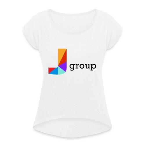 J Group - Maglietta da donna con risvolti