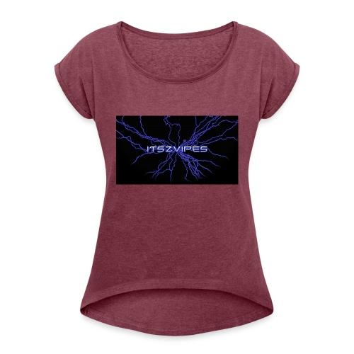 Beste T-skjorte ever! - T-skjorte med rulleermer for kvinner
