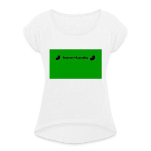 bean_norsk_gaming-jpg - T-skjorte med rulleermer for kvinner