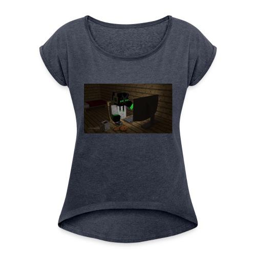 ladda_ned_-2--png - T-shirt med upprullade ärmar dam