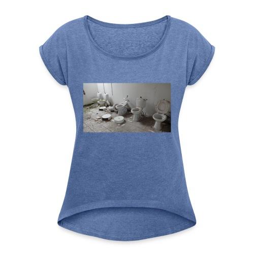 Toilets - Dame T-shirt med rulleærmer
