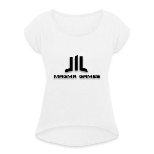 Magma Games t-shirt - Vrouwen T-shirt met opgerolde mouwen