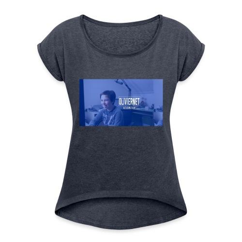 banner 3 jpg - Vrouwen T-shirt met opgerolde mouwen