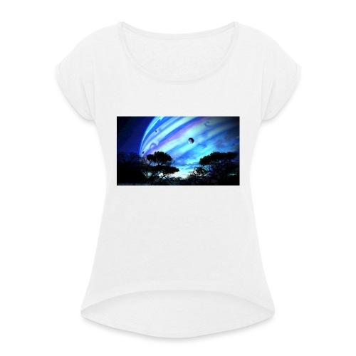 tropical night - Camiseta con manga enrollada mujer