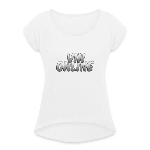 VinOnline - Vrouwen T-shirt met opgerolde mouwen