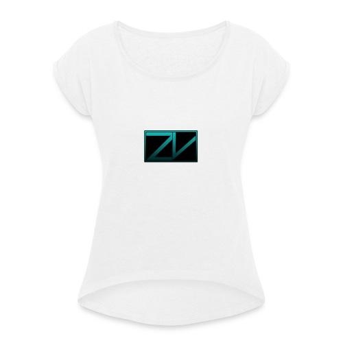 ZiVoid Basic - Vrouwen T-shirt met opgerolde mouwen