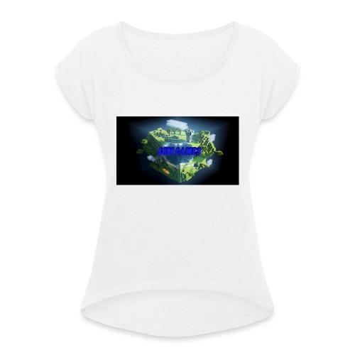 T-shirt SBM games - Vrouwen T-shirt met opgerolde mouwen