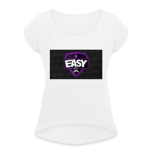HTC One X Team EasyFive kuoret - Naisten T-paita, jossa rullatut hihat