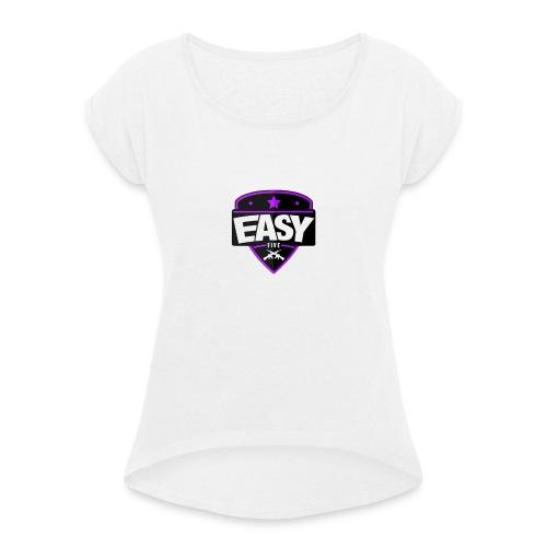 Team EasyFive Galaxy s4 kuoret - Naisten T-paita, jossa rullatut hihat