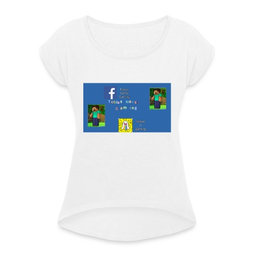 TobiasNorskGaming - T-skjorte med rulleermer for kvinner