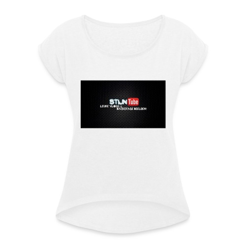 StijnTube - Hoesje I-Phone 4/4s - Vrouwen T-shirt met opgerolde mouwen