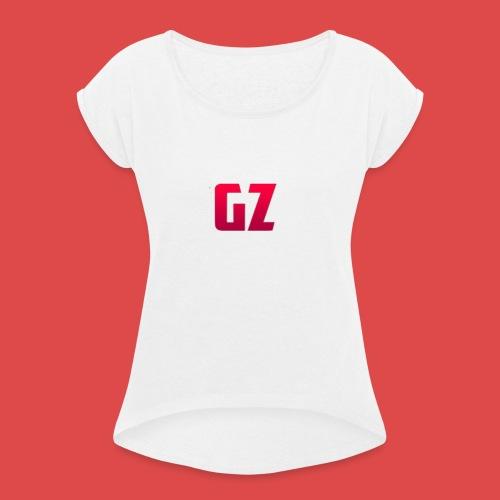 GamenZo - Hoodie - Vrouwen T-shirt met opgerolde mouwen
