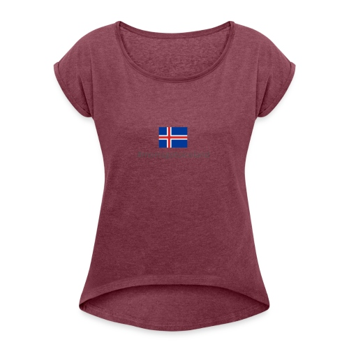 Iceland - Women's T-Shirt with rolled up sleeves