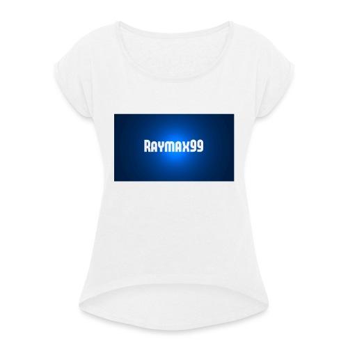 Raymax99 Herr Tröja - T-shirt med upprullade ärmar dam