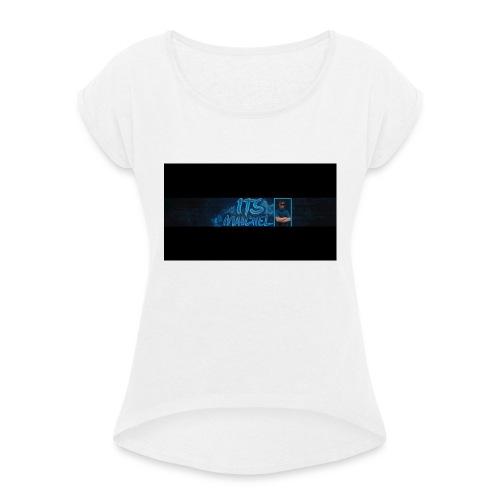 Shirt banner - Vrouwen T-shirt met opgerolde mouwen