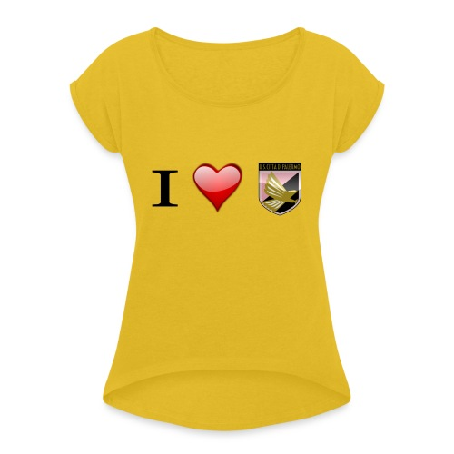 I Love Palermo - Maglietta da donna con risvolti