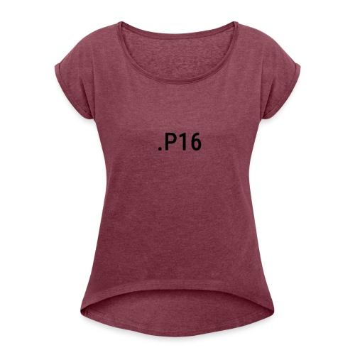 -P16 - Vrouwen T-shirt met opgerolde mouwen