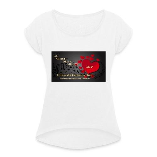 Gli_Artisti_della_Musica-iloveimg-resized - Maglietta da donna con risvolti