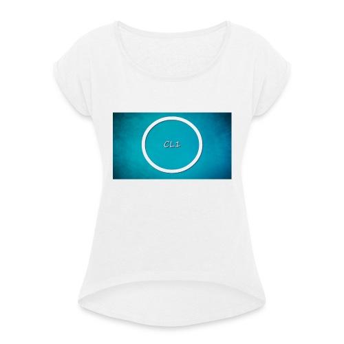 CaptainLuc1 - T-skjorte med rulleermer for kvinner