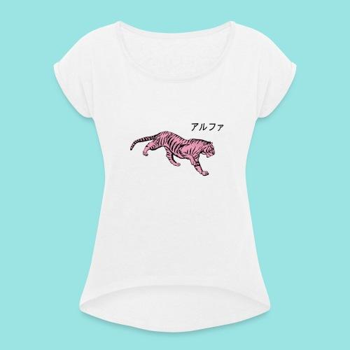 design2 - T-shirt à manches retroussées Femme