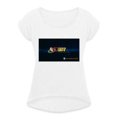OhrBit Logo - Frauen T-Shirt mit gerollten Ärmeln
