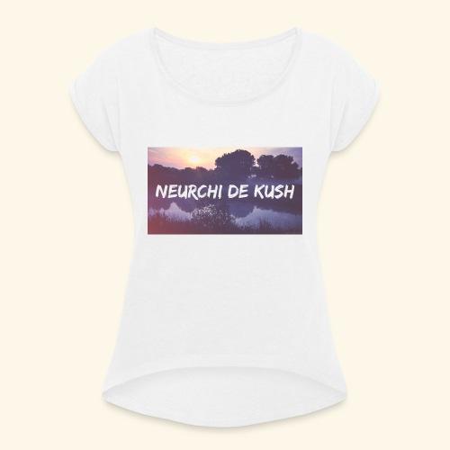 🌼🔥🍁☘️ - T-shirt à manches retroussées Femme