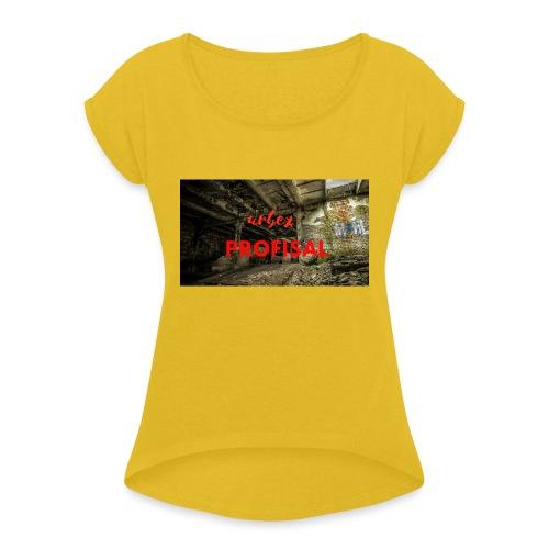 profisal - Koszulka damska z lekko podwiniętymi rękawami