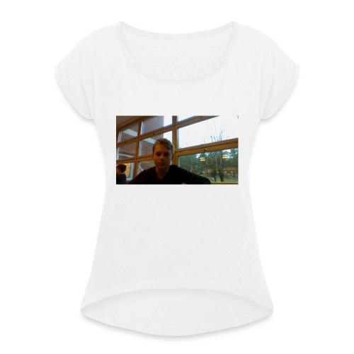 High Quality merch - T-shirt med upprullade ärmar dam