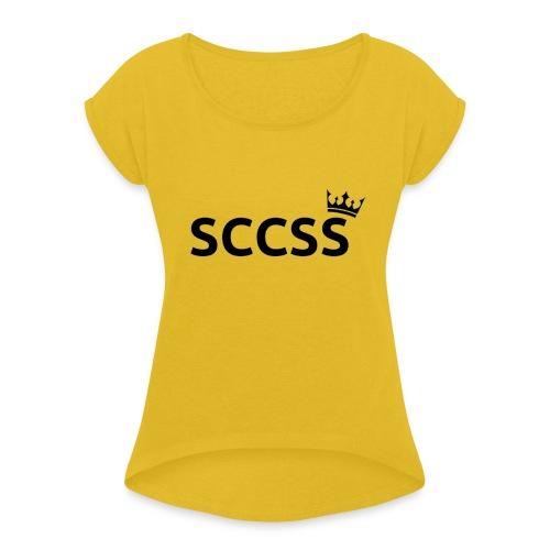 SCCSS - Vrouwen T-shirt met opgerolde mouwen