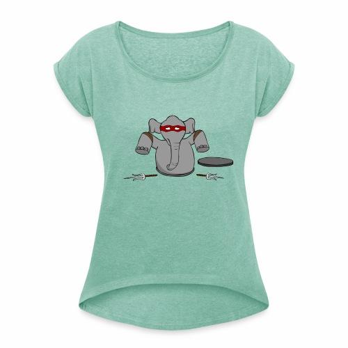 TMNE - Vrouwen T-shirt met opgerolde mouwen