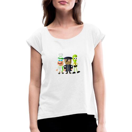 BombStory - Main Characters - Women's T-Shirt with rolled up sleeves