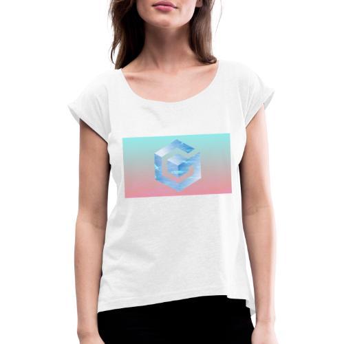 Vapor Cube Game - T-shirt à manches retroussées Femme