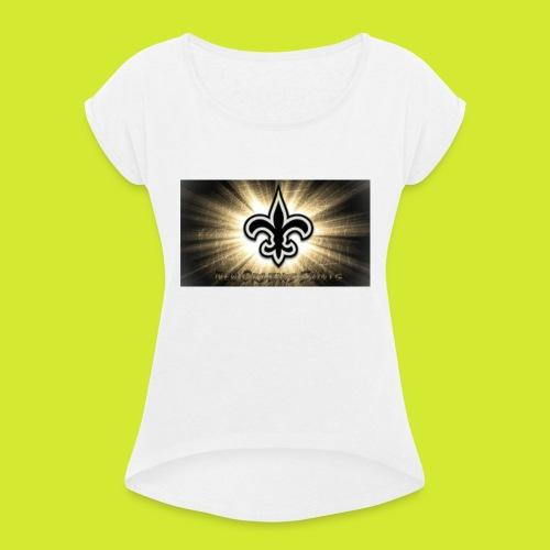 Saints, Sport USA - Frauen T-Shirt mit gerollten Ärmeln