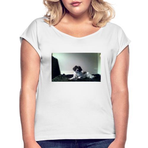 DOG - Vrouwen T-shirt met opgerolde mouwen