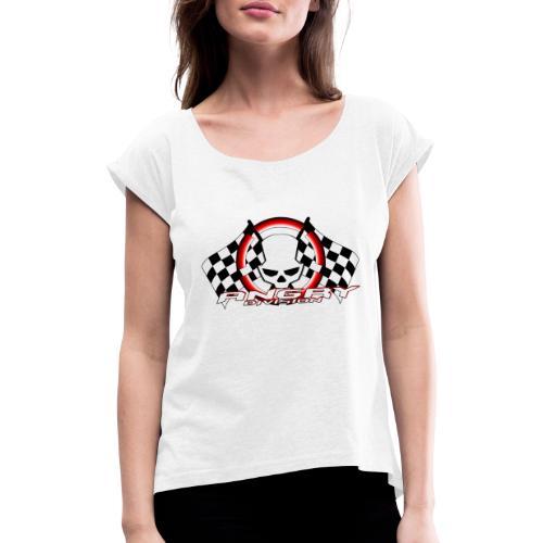 Angry Division - Frauen T-Shirt mit gerollten Ärmeln
