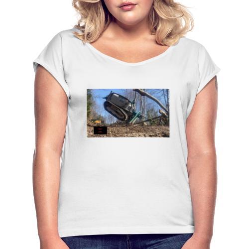 Pfanzelt Moritz FR 50 - Frauen T-Shirt mit gerollten Ärmeln