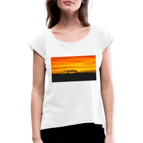 SunSet - Dame T-shirt med rulleærmer