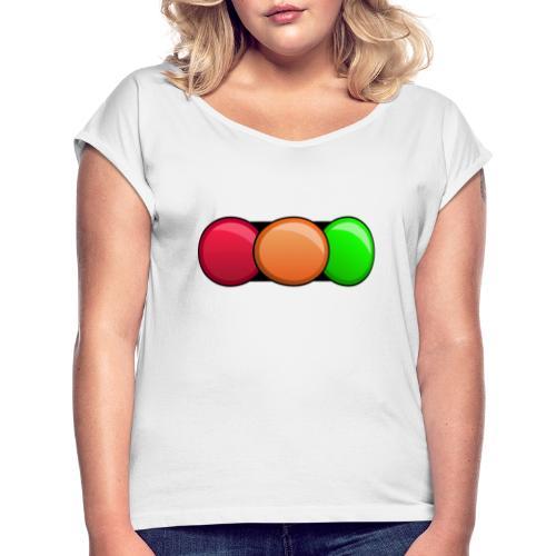 Fahrschule DAMIAN - Frauen T-Shirt mit gerollten Ärmeln