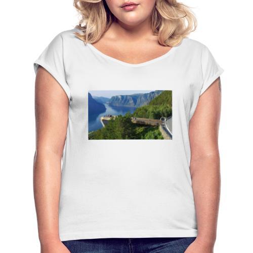 flåm - T-skjorte med rulleermer for kvinner