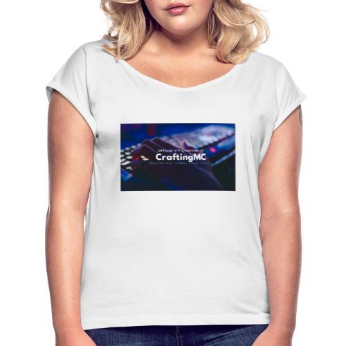 CraftingMC Banner - Frauen T-Shirt mit gerollten Ärmeln