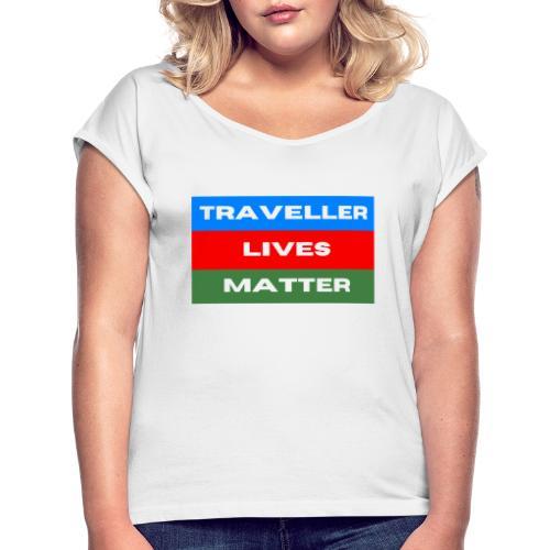 TLM 2Tr - T-shirt med upprullade ärmar dam